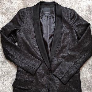 Trouve Tuxedo style sparkly blazer